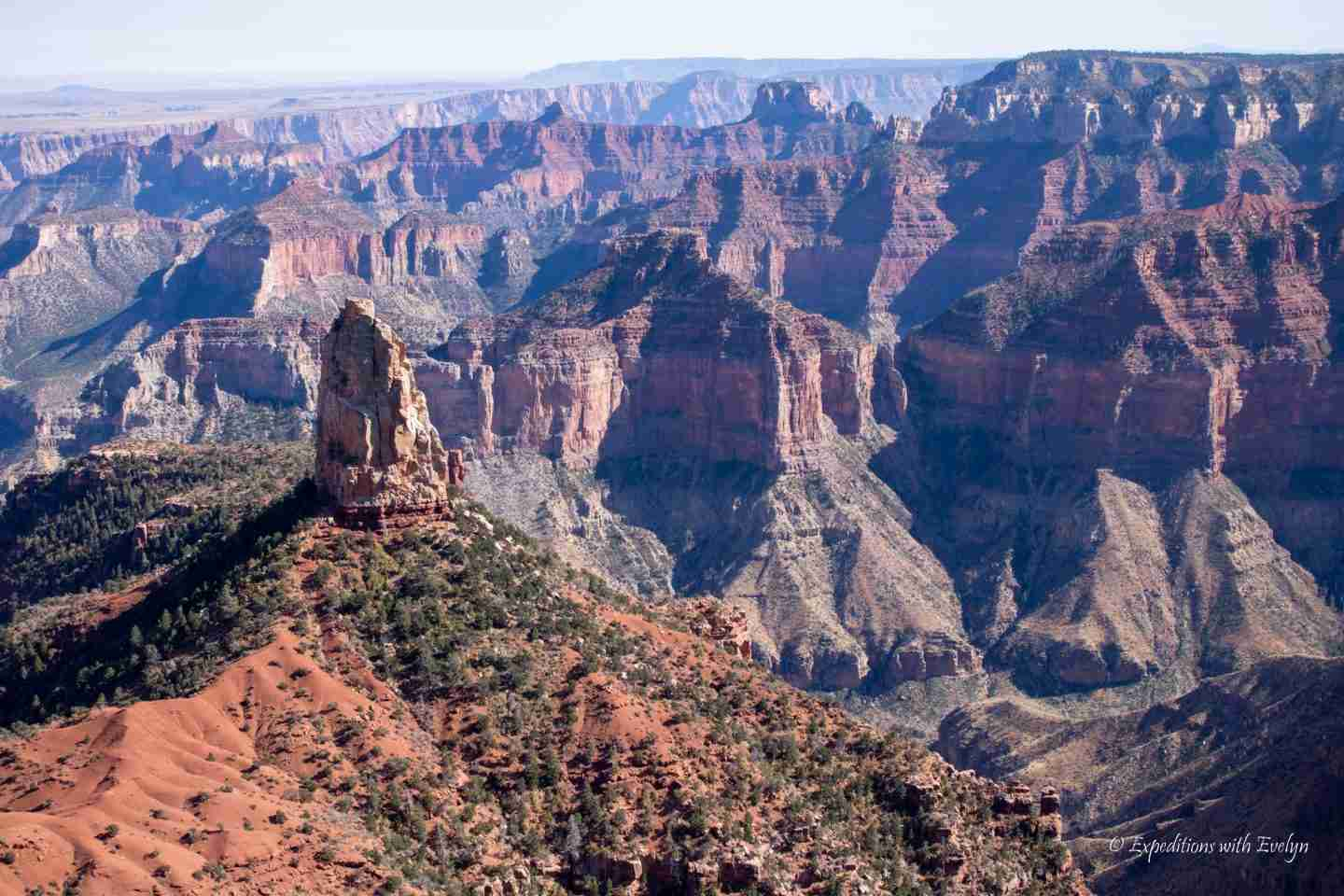 Layers of the Grand Canyon from Cape Royal viewpoint